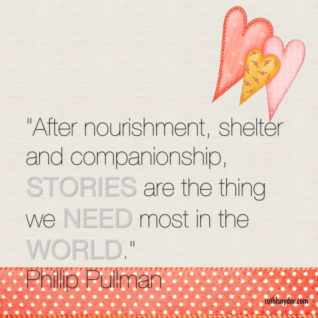 Phillip Pullman quote about the importance of story