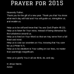 My Prayer for 2015