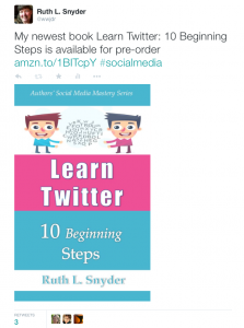 Ruth_L__Snyder_on_Twitter___My_newest_book_Learn_Twitter__10_Beginning_Steps_is_available_for_pre-order_http___t_co_L9D23X4dxb__socialmedia_http___t_co_75YJQdtdOn_