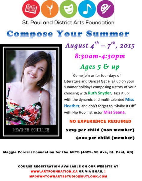 Summer arts camp in St. Paul, Alberta