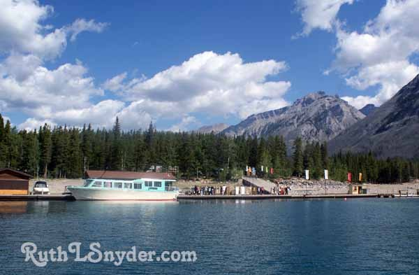 Boat ride on Lake Minnewanka