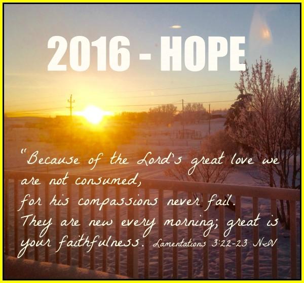 2016 Hope